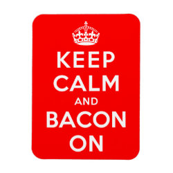 3'x4' Photo Magnet with Keep Calm And Bacon On design
