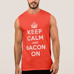 Men's Ultra Cotton Sleeveless T-Shirt with Keep Calm And Bacon On design