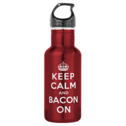 Water Bottle (24 oz) with Keep Calm And Bacon On design