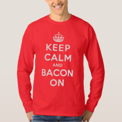 Men's Basic Long Sleeve T-Shirt with Keep Calm And Bacon On design