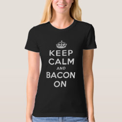 Women's American Apparel Organic T-Shirt with Keep Calm And Bacon On design