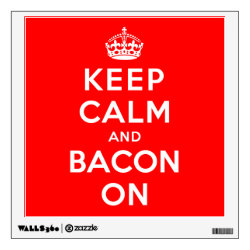 Walls 360 Custom Wall Decal with Keep Calm And Bacon On design