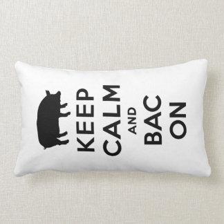 Keep calm and bacon pillows