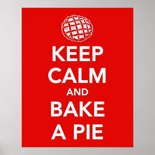Keep Calm and Bake a Pie print