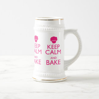 KEEP CALM AND BAKE BEER STEIN