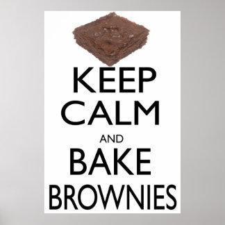 Keep Calm and Bake Brownies Poster