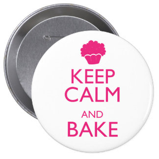 KEEP CALM AND BAKE BUTTONS