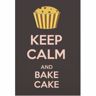 Keep Calm and Bake Cake Standing Photo Sculpture
