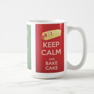 Keep Calm and Bake Cake Vintage Poster Coffee Mug