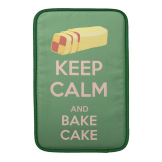 Keep Calm and Bake Cake Vintage Poster Sleeve For MacBook Air