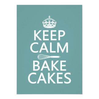 Keep Calm and Bake Cakes Card