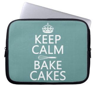 Keep Calm and Bake Cakes Computer Sleeve