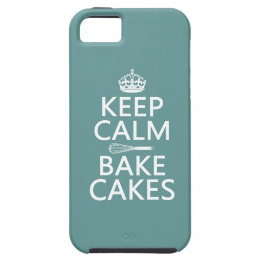 Keep Calm and Bake Cakes (customize color) iPhone 5 Covers