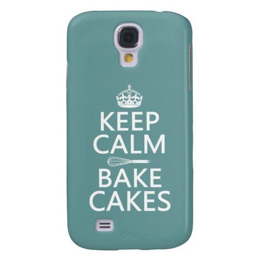 Keep Calm and Bake Cakes (customize color) Samsung Galaxy S4 Case