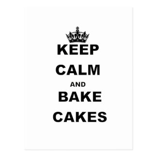 KEEP CALM AND BAKE CAKES.png Postcard