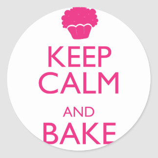 KEEP CALM AND BAKE CLASSIC ROUND STICKER