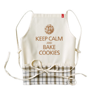 Keep Calm And Bake Cookies Zazzle HEART Apron