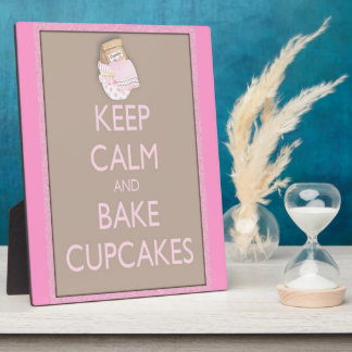 Keep calm and bake cupcakes plaque