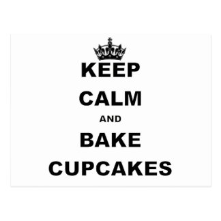 KEEP CALM AND BAKE CUPCAKES.png Postcard