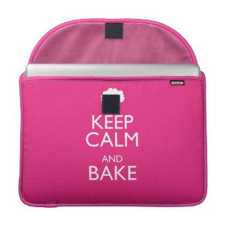 KEEP CALM AND BAKE MacBook PRO SLEEVE