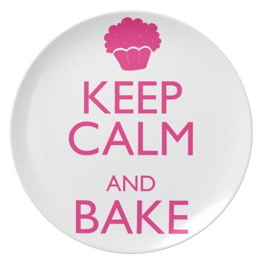 KEEP CALM AND BAKE MELAMINE PLATE