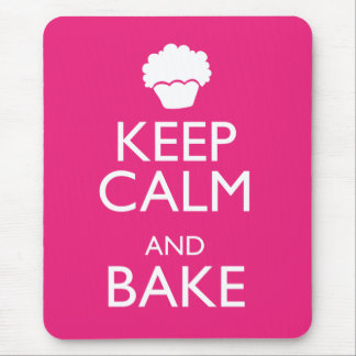 KEEP CALM AND BAKE MOUSE PAD