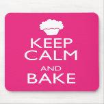 KEEP CALM AND BAKE MOUSEPAD