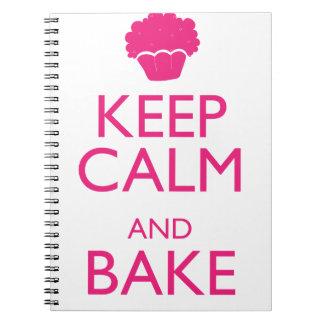 KEEP CALM AND BAKE NOTEBOOK