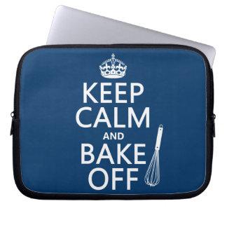 Keep Calm and Bake Off Computer Sleeve