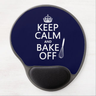 Keep Calm and Bake Off (cooking) (change colors) Gel Mouse Pads
