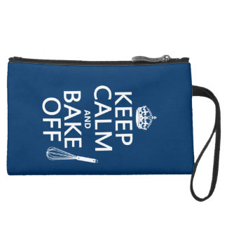 Keep Calm and Bake Off Suede Wristlet Wallet