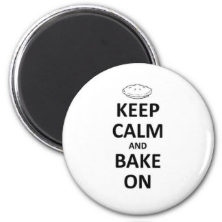 Keep calm and bake on 2 inch round magnet