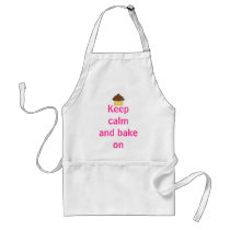 Keep calm and bake on adult apron