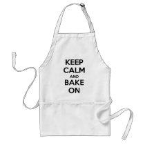 Keep Calm and Bake On Apron