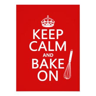 Keep Calm and Bake On Card