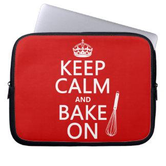 Keep Calm and Bake On Computer Sleeve