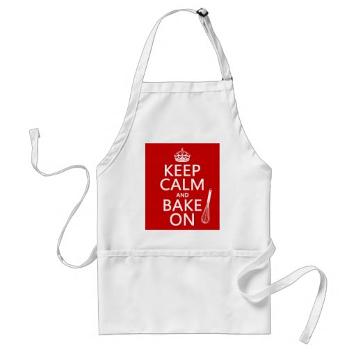 Keep Calm and Bake On (cooking) (customize color) Apron