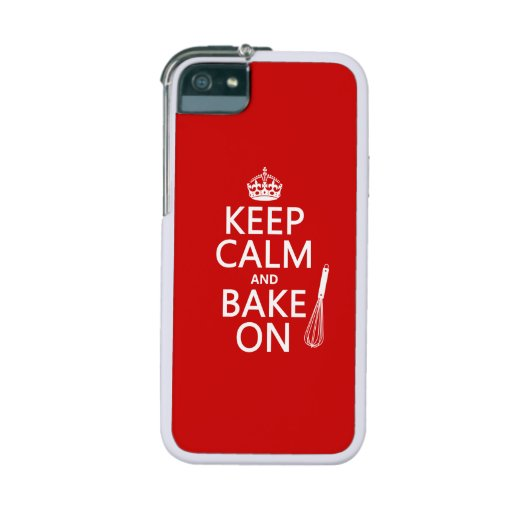 Keep Calm and Bake On (cooking) (customize color) Case For iPhone 5