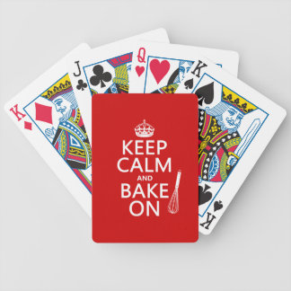 Keep Calm and Bake On (cooking) (customize color) Bicycle Playing Cards