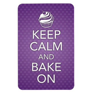 Keep Calm and Bake On Flexi Magnet