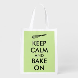 Keep Calm and Bake On Grocery Bag Baking Whisk
