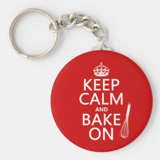 Keep Calm and Bake On Keychain