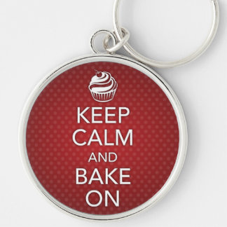 Keep Calm and Bake On Keychain