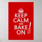Keep Calm and Bake On Poster