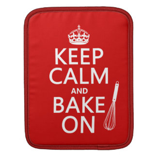 Keep Calm and Bake On Sleeve For iPads