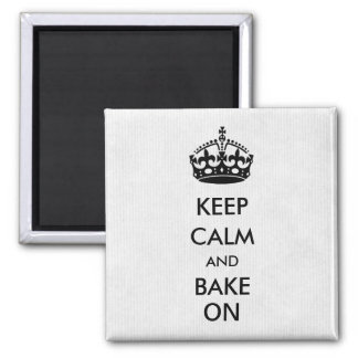 Keep Calm and Bake On White Kraft Paper Magnet