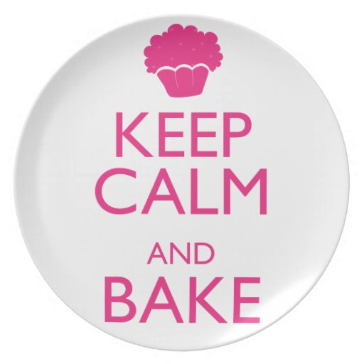 KEEP CALM AND BAKE PARTY PLATE