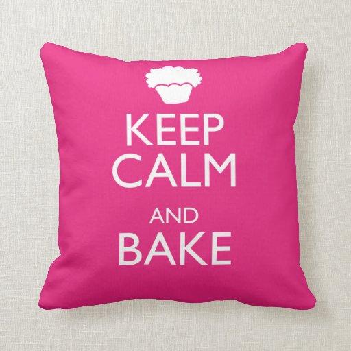 KEEP CALM AND BAKE PILLOW