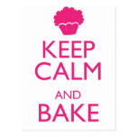 KEEP CALM AND BAKE POST CARD
