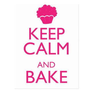 KEEP CALM AND BAKE POSTCARD